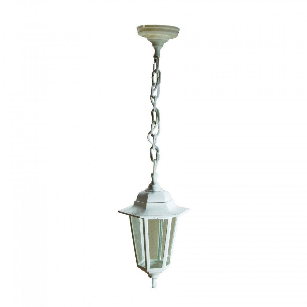 Уличный светильник подвесной Адель1 НСУ 06-60-001 Адель1 белый, прозрачное стекло.