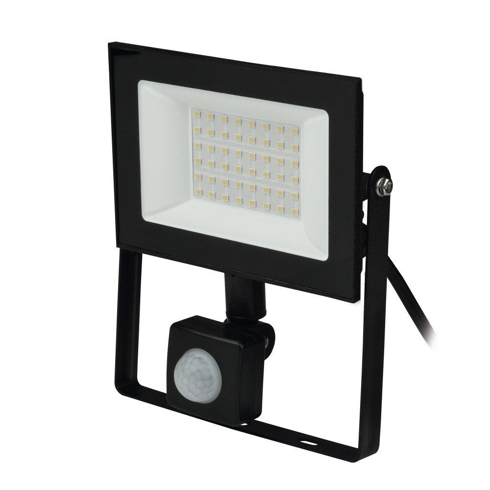 Прожектор светодиодный (UL-00007126) Uniel 30W ULF-F62-50W/6500K Sensor IP54 200-240В Black.